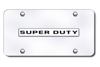 Autogold® - Super-Duty Logo on Chrome License Plate