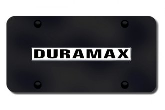Autogold® - Duramax Logo on Black License Plate