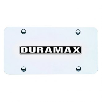 Autogold® - Duramax Logo on Chrome License Plate