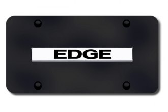 Autogold® - Edge Logo on Black License Plate