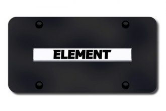 Autogold® - Element Name Logo on Black License Plate