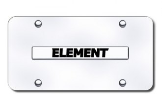 Autogold® - Element Name Logo on Chrome License Plate