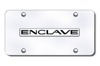 Autogold® - Enclave Logo on Chrome License Plate