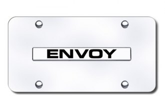 Autogold® - Envoy Logo on Chrome License Plate