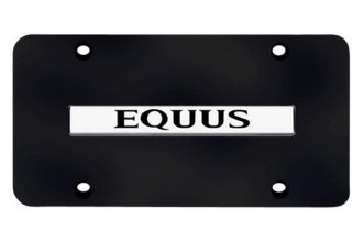 Autogold® - 3D Chrome Equus Logo on Black License Plate
