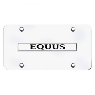 Autogold® - Equus Logo on Chrome License Plate