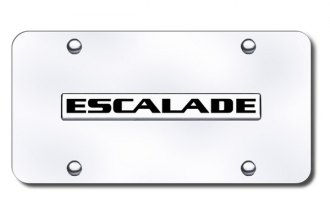 Autogold® - Escalade Logo on Chrome License Plate