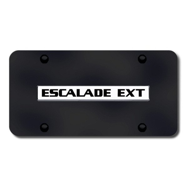 Autogold® - Escalade EXT Logo on Black License Plate
