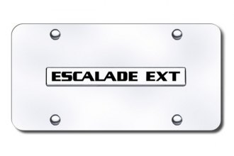 Autogold® - Escalade EXT Logo on Chrome License Plate