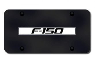 Autogold® - F-150 Name Logo on Black License Plate