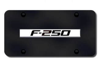Autogold® - F-250 Logo on Black License Plate