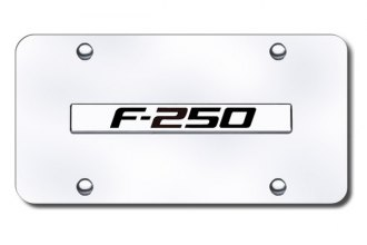 Autogold® - F-250 Logo on Chrome License Plate