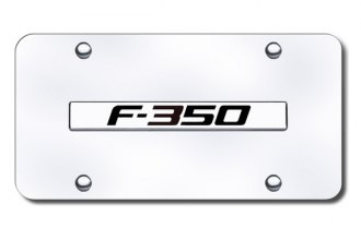 Autogold® - F-350 Logo on Chrome License Plate