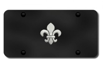 Autogold® - Fleur-De-Lis Logo on Black License Plate