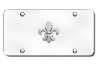 Autogold® - Fleur-De-Lis Logo on Chrome License Plate