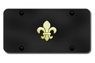 Autogold® - 3D Gold Fleur-De-Lis Logo on Black License Plate