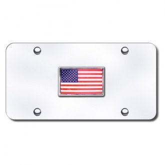 Autogold® - Flag Logo on Chrome License Plate