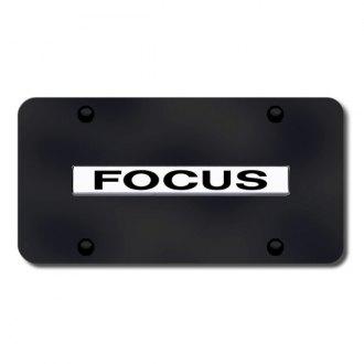Autogold® - Focus Name on Black License Plate