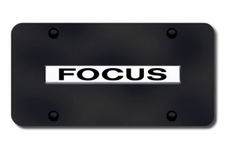 Autogold® - Focus Logo on Black License Plate