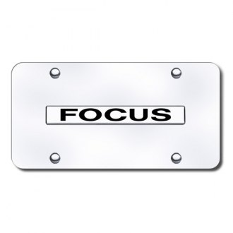 Autogold® - Focus Name on Chrome License Plate
