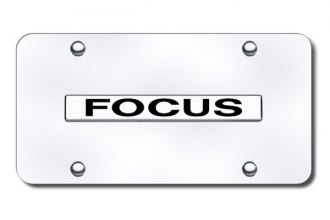 Autogold® - Focus Logo on Chrome License Plate