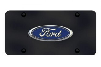 Autogold® - Ford Logo on Black License Plate