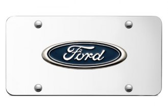 Autogold® - Ford Logo on Chrome License Plate