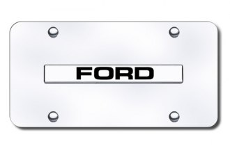 Autogold® - Ford Name Logo on Chrome License Plate