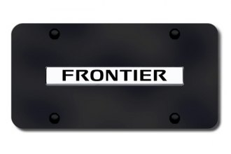 Autogold® - Frontier Logo on Black License Plate