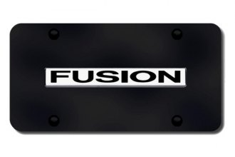 Autogold® - 3D Chrome Fusion Logo on Black License Plate