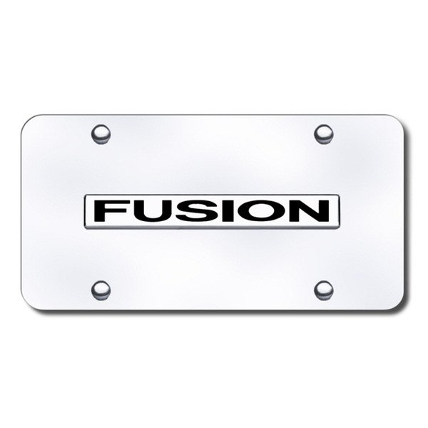 Ford Fusion Chrome License Plate