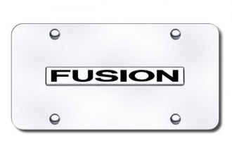 Autogold® - Fusion Logo on Chrome License Plate