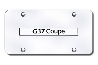 Autogold® - G37 Coupe Logo on Chrome License Plate