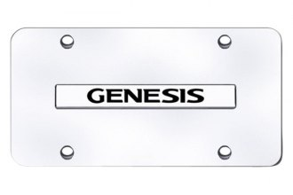 Autogold® - Genesis Logo on Chrome License Plate