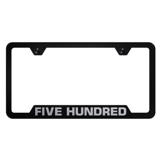 Autogold® - License Plate Frame with Laser Etched Ford 500 Logo and Cut-Outs