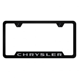 Autogold® - License Plate Frame with Laser Etched Chrysler Logo and Cut-Outs