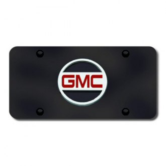 Autogold® - GMC (Only) Logo on Black License Plate