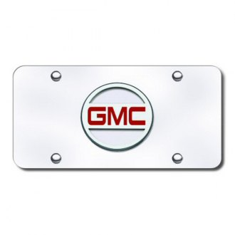 Autogold® - GMC (Only) Chrome Logo on Chrome License Plate