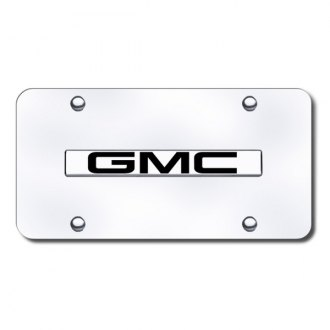 Autogold® - GMC Name Logo on Chrome License Plate