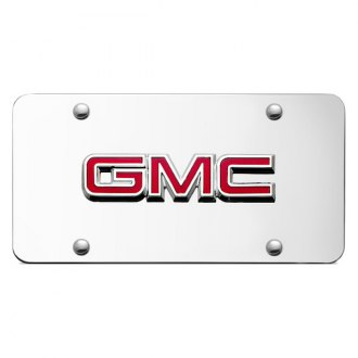 Autogold® - GMC OEM Logo on Chrome License Plate