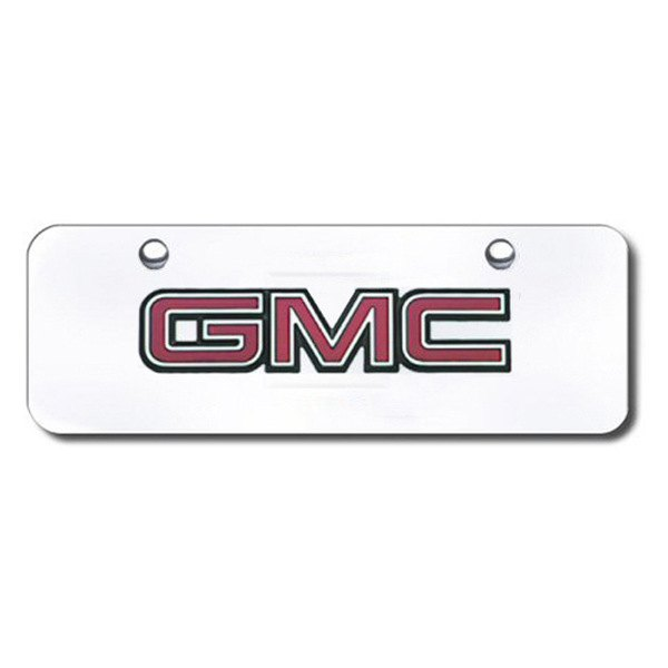 Autogold® - GMC OEM Logo on Chrome Mini Size License Plate