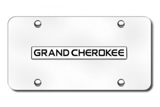 Autogold® - Grand Cherokee Logo on Chrome License Plate