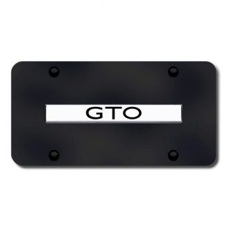 Autogold® - GTO Logo on Black License Plate