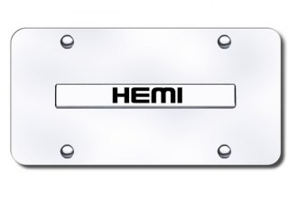 Autogold® - Hemi Name Logo on Chrome License Plate