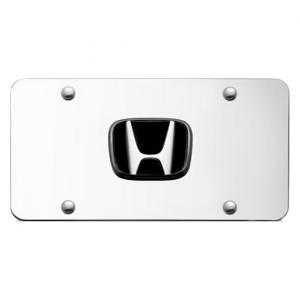 Autogold® - Honda Chrome Logo on Chrome License Plate