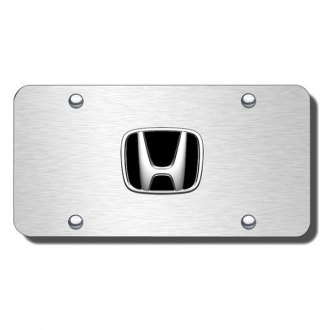 Autogold® - Honda Logo on Brushed License Plate