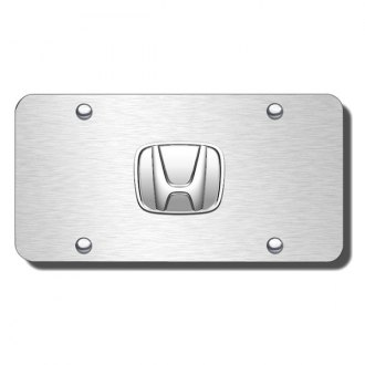 Autogold® - Honda No Fill Logo on Satin License Plate