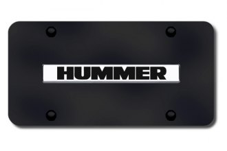 Autogold® - Hummer Logo on Black License Plate