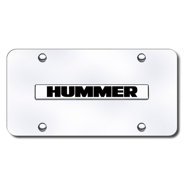 Autogold® - Hummer Logo on Chrome License Plate