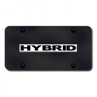 Autogold® - Hybrid Logo on Black License Plate